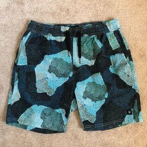 Zanerobe Drawstring Printed Swim Shorts
